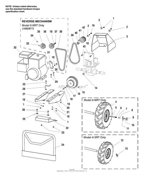 simplicity  rt hp rear tine tiller parts