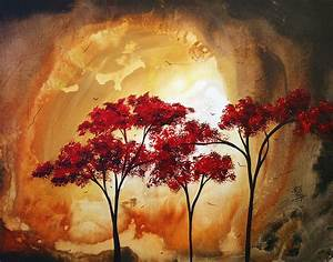 Abstract Landscape Painting Empty Nest 2 Madart Painting Megan Duncanson Wonderful Abstract Landscape Paintings