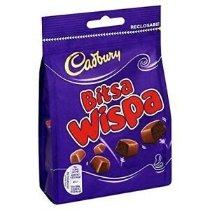 cadbury bitsa wispa bag  british chocolate ebay