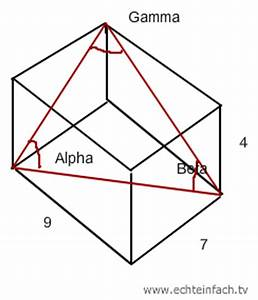 Dreiecksseiten Berechnen : stereometrie winkel alpha beta und gamma im quader bestimmen mathelounge ~ Themetempest.com Abrechnung