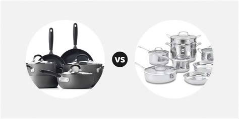 hard anodized cookware  stainless steel cookware
