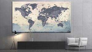 Tableau Du Monde : carte du monde tableau mappemonde tableau world map na ca ~ Teatrodelosmanantiales.com Idées de Décoration