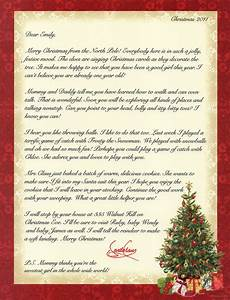personalized letter from santa claus by merrymailbox on etsy With a letter from santa claus