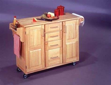 kitchen island in home styles all wood kitchen cart with wood breakfast bar 5089