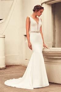 elegant satin wedding dress style 4796 paloma blanca With wedding dress