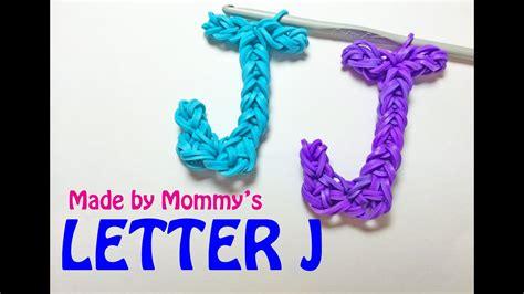rainbow loom letter  charm    hook youtube