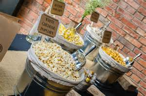 Popcorn Bar Wedding Favors