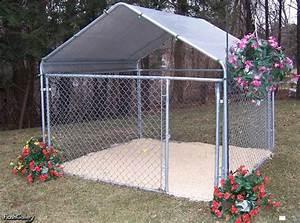 Portable garage shelter king instant garages storage for Portable dog kennel building