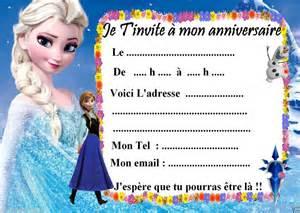 5 Cartes Invitation Anniversaire Disney La Reine Des