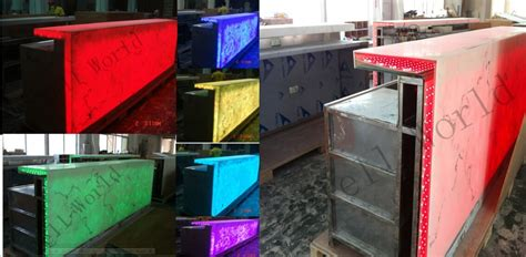 bar counter materials translucent acrylic marble rgb led light modern led bar counter for sale buy led bar counter
