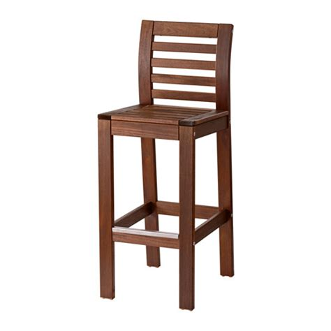 aepplaroe bar stool  backrest outdoor ikea cheap wood