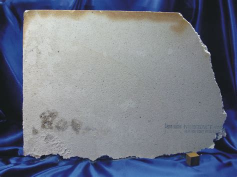 asbestos ceiling panel reverse overview   reverse