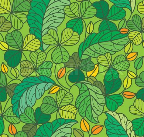 Abstract Green Leaf Wallpaper by Green Leaf Background Seamless Stock Vector Colourbox