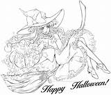 Coloring Halloween Pages Witch Adults Printable Witches Adult Colorings Books Colouring Fall Printables Detailed Horror Teens Older Disney Pumpkin Templates sketch template