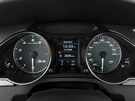 image  audi   door coupe auto instrument cluster
