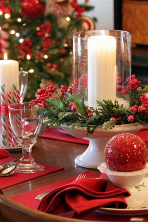 candles for christmas table 35 christmas décor ideas in traditional red and green