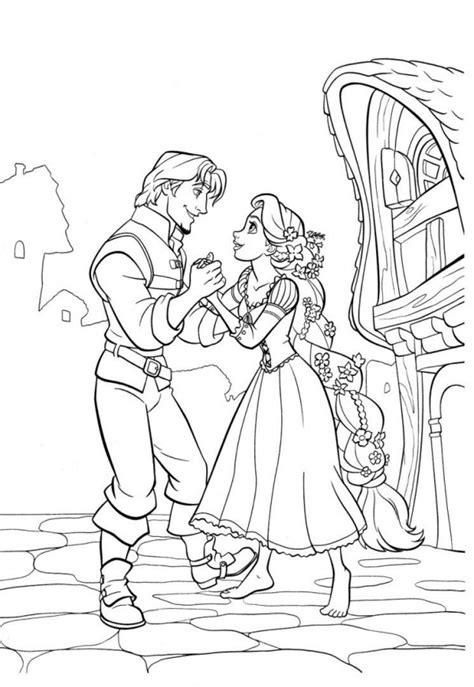 Imágenes para pintar de Rapunzel Colorear imágenes