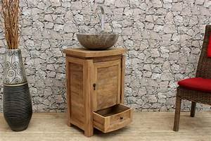 Badmbel Holz Set Trendy Holz Natur Badmbel Set Holz