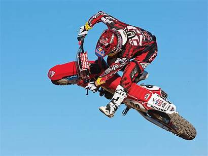 Motocross Bull Racing Honda Stunt Jump Motorcycle