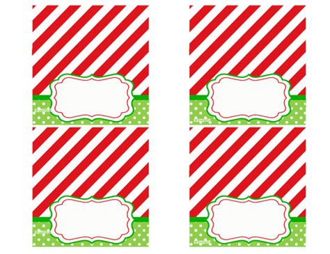 free printable christmas table place cards template christmas party tent style place cards printable magic of