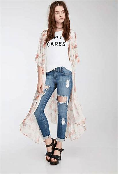 Jeans Skinny Forever Denim Ripped Teen Distressed