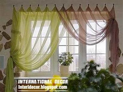 Curtain Kitchen Contemporary Styles Bright Brown Colors