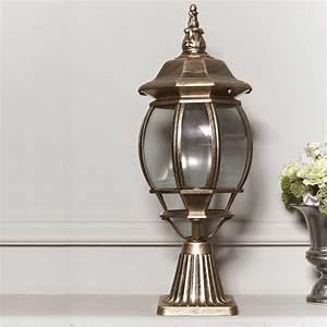 top grade retro outdoor pillar lamp fence post cap pillar With lamp post light indoor