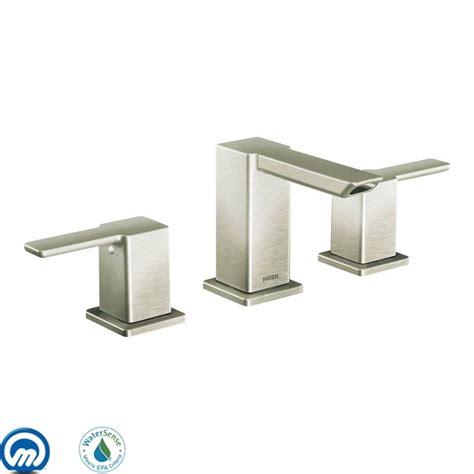Moen 90 Degree Faucet Brushed Nickel by Moen Ts6720bn 9000 Brushed Nickel Handle Widespread