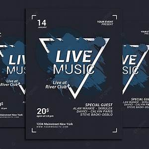 Live, Music, Flyer, Template, For, Free, Download, On, Pngtree