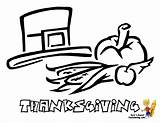 Coloring Thanksgiving Turkey Pilgrim Hat Colouring Cornucopia Holiday Boys Yescoloring Bountiful Meal sketch template