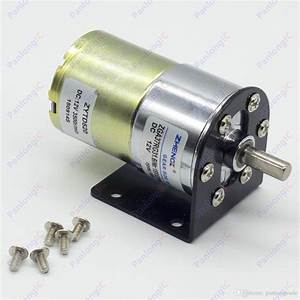 Compre Zga37rg 12v Dc 100 Rpm Motor De La Caja De