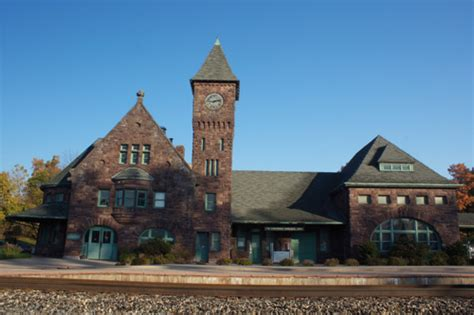 michigans historic railroad stations wayne state