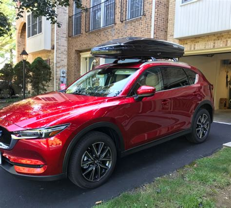 roof rack for mazda cx 5 2017 roof rack system and cargo box options for 2017 cx 5
