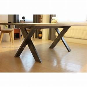 Table Sejour Design : table de s jour type industrielle ~ Teatrodelosmanantiales.com Idées de Décoration