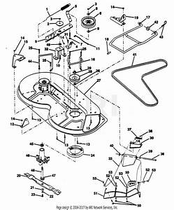 Poulan Pp11536ka Tractor Parts Diagram For Mower Deck