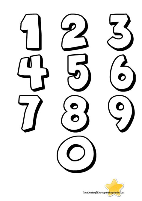 Números grandes para imprimir Moldes de letras bonitas