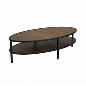 Table basse ovale Naturel Interior's