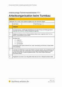 Personalbedarf Berechnen : teilnehmerarbeitsblatt arbeitsorganisation beim turmbau vorlage business ~ Themetempest.com Abrechnung