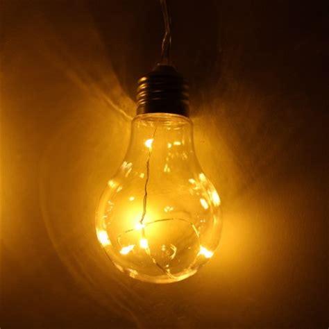 solar light bulb warm white lights