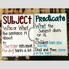 25+ Best Ideas About Subject And Predicate On Pinterest  Predicate Examples, Subject And
