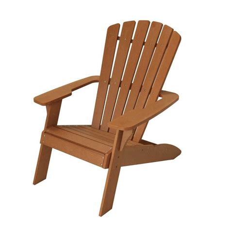 lifetime outdoor adirondack chair in brown the home