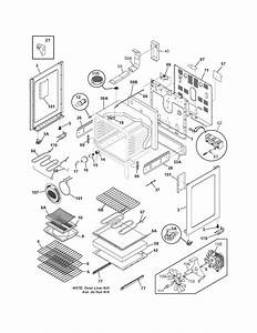 Body Diagram  U0026 Parts List For Model Plef398dcc Frigidaire