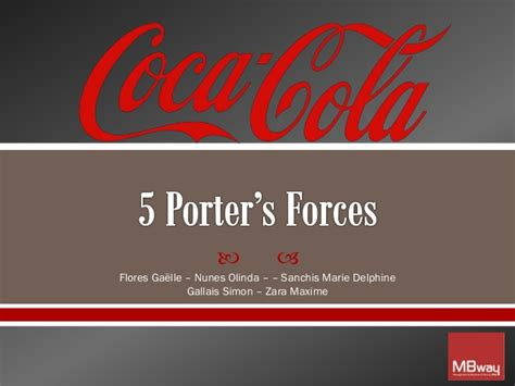 coca cola 5 porter s forces