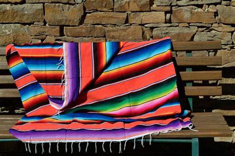 Bbbzz0orange  Mexikanische Serape (sarape) Decke