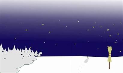 Winter Night Scene Clipart Scenery Ground Transparent