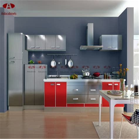 Kitchen Pantry Cabinets For Sale - modern high gloss stainless steel kitchen frestanding