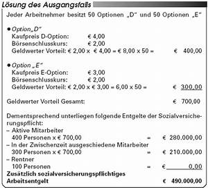 Arbeitslohn Berechnen : sozialversicherung die sozialversicherungsrechtliche behandlung ausl ndischer aktienoptionen ~ Themetempest.com Abrechnung