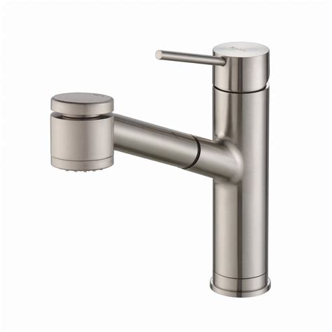 single handle pull out kitchen faucet kraus oletto single handle pull out kitchen faucet with