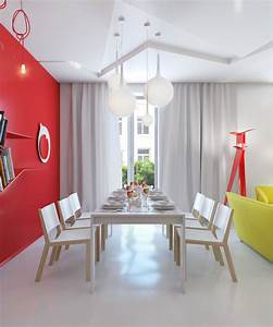 red white dining room interior design ideas With red dining room color ideas