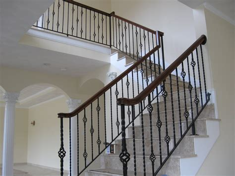 wrought iron spindles colonial iron works iron interior handrails